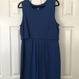 Tailored blue dress from Ann Taylor